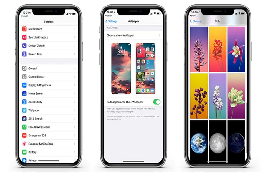 والپیپر ( شخصی سازی صفحه اصلی در iOS 14 )
