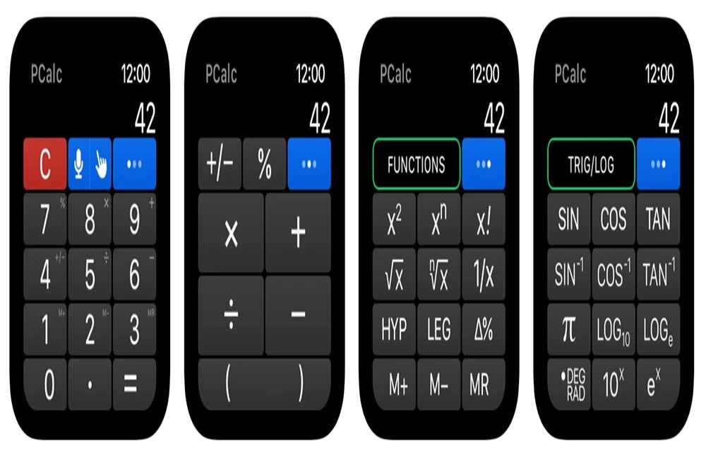 PCalc ( کاربردی ترین برنامه های اپل واچ )