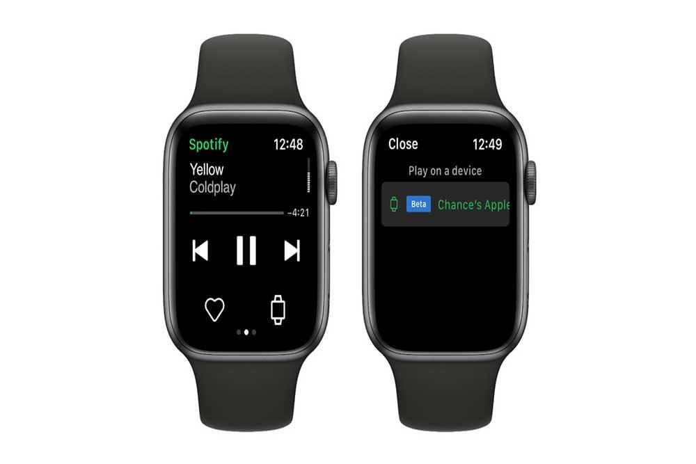Spotify ( کاربردی ترین برنامه های اپل واچ )
